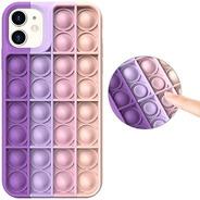 Funda iPhone Pop It - Antiestrés Burbuja Modelos Y Colores