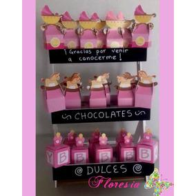 Candy Bar Recuerditos Recién Nacido Bienvenida Bebé Cajitas