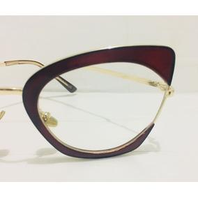 03903d7415fc0 Armação De Óculos De Grau Branco Borboleta Sol - Óculos no Mercado ...