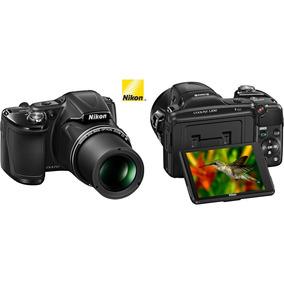 Câmera Digital Nikon Coolpix L830 Preta - 16mp, Lcd Móvel