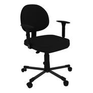 Cadeira Executiva Giratória C/ Lamina De Aço Braço Regulavel