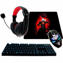 Kit Gamer G-fire Teclado + Mouse + Fone C Microf + Mouse Pad