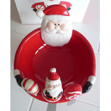 Bella Bandeja Pasapalos Cremas Navidad Santa Clous
