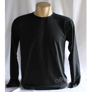 Camisa Manga Longa Lisa100% Algodão Kit Com 2 Pçs