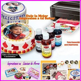 Impresora Tinta Comestible Fototortas+kit Completo De Inicio