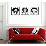 Cuadro De Mafalda En Foam 3 Piezas Vinil Gamer Coleccion