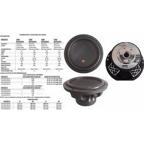 Subwoofer Loudforce 12 900 Watts Rms Doble Bovina 8512d4v3