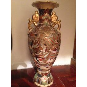 Antiguo Jarron Porcelana Satsuma Imperial Meiji Siglo Xix