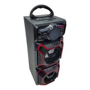 Parlante Bluetooth Portátil Luces Radio Usb Bt02 Hbltech