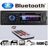 Auto Radio Automotivo Usb Sd Relógio Mp3 Player E Bluetooth!