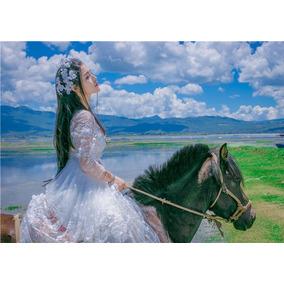 Vestido De Noiva Debutantes Renda Importado Tamanho M Branco