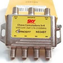 Kit 100 Chave Comutadora Sky 3x4 Podendo Substituir Diseqc