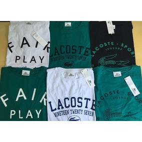 Camiseta Tam P 2 Peças Blusa Lacoste Original + Frete Gratis