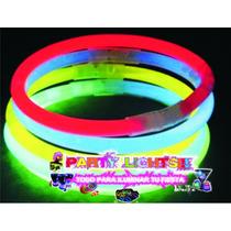 100 Pulseras De Cyalume Neon Fiesta Eventos Boda Antro Glow