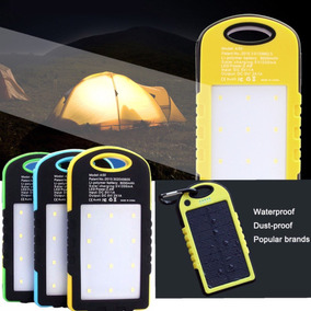 Cargador Solar Luz Led Contra Agua Iphone Celular Acampar