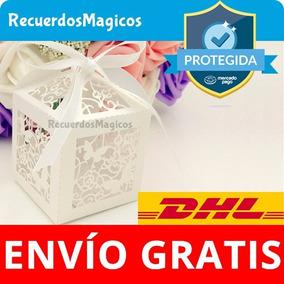 25 Cajas Cajitas Mariposas Cruz Dulce Recuerdos Bautizo Boda