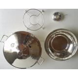 Rechaud Banho Maria Prata 11 L Buffet Locação Metal Arte