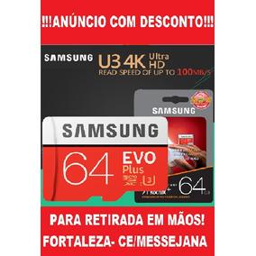 Cartão Micro Sd Samsung Evo 64gb 100mb/s U3 4k Gopro Hero