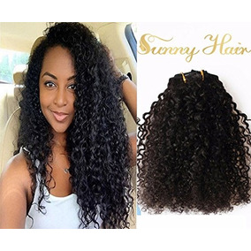 Sunny 18inch Kinkys Curly Clip In Hair Extensions Human Hair