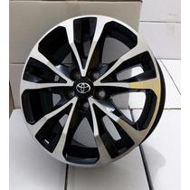 Roda Aro 16 Corolla Xrs Preta Diamantada Furação 5x100 + Nf