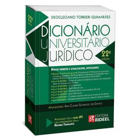 Dicionário Universitário Jurídico Rideel 2018 + Brinde