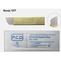 Micropigmentacion - 10 Navajas O Aguja Para Microblading
