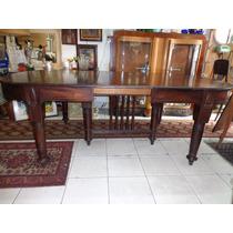 Conj,mesa C/6 Pés Rodízios - 6 Cadeiras - Anos 30