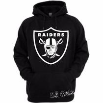 Moletom Oakland Raiders - Nfl - Futebol Americano - Canguru