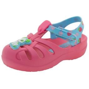 Papete Infantil Feminina Moranguinho Rosa/azul Grendene Kids