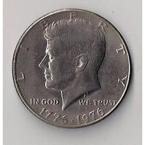 Eeuu Moneda Conmemorativa Half Dolar 1776-1976 Kennedy