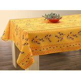 Easynappes Tablecloth, Anti-stain, Olivette Jaune, Rectangul