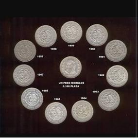 Colección Completa De 11 Monedas Plata Ley 0.100 Morelos