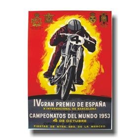 Placa De Motocicletas Cod. 110015 Gp Espana 1953