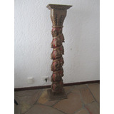 Columna Antigua S/ Madera Vintage 1,70m
