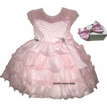 Vestido Festa Luxo Infantil Minnie Barbie Gatinha Marie
