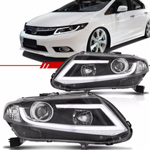 Par Farol Barra Leds New Civic 12-15 Tuning 2012-2016