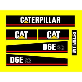 Jogo De Adesivos Caterpillar D6e Sr