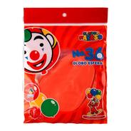 Bolsa Con 3 Globos Tamaño 36 (90 Cms) Color Durazno