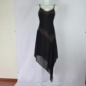 Missteen Vestido Negro Tirantes Piedras 7 Msrp $1,499