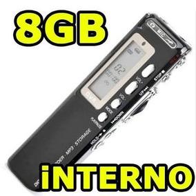 Gravador De Voz Digital Espião Com 8gb Memória Digital Alta