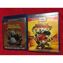 Kung Fu Panda 1 Y 2 Blu-ray Tercera Dimension Paquete