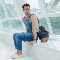 Macacão Jardineira Masculina Jeans Promoção Plus Size