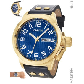 Relógio Magnum Masculino Couro Ma32765a Original + Nf