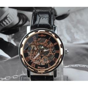 b68872e33bd Lindo Relogio Esqueleto Winner Dourado - Joias e Relógios no Mercado ...