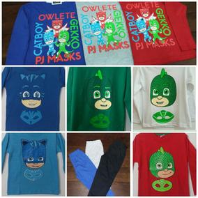 Pijama Pj Masks Invierno Manga Larga Y Pantalon Largo