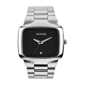 Relógio Nixon Big Player 44mm Prata Com Diamante Autêntico