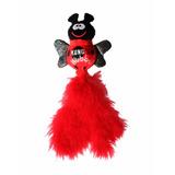 Juguete Gatos Kong Wubba Bug Surtido Con Plumas Rojo
