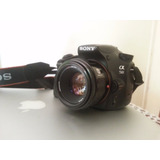 Camara Sony Alpha A58 Con Lente Minolta Af 50mm F1.7