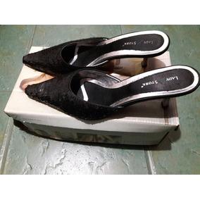 Zapatos De Fiesta Taco Bajo Lady Stork En Caja Original