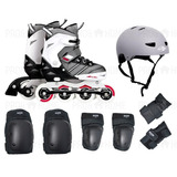 Roller Pro 38 39 40 41 Mor Abec 9 Kit + Proteção Bike Skate